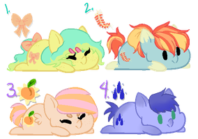 cute af ponies (DTA) ONE LEFT by beankat-adopts