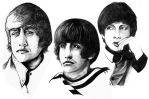 Beatles sketches by Jowy10