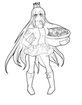 vocaloid galaco (lineart,wip) by Eemapso