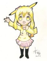 Pika chibi Girl - Traditional by Panatrix