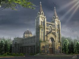 Ancient church by crystalrain2702