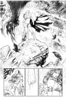 Red Sonja pencil page by PaulRenaud