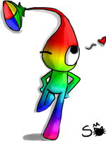 Commission: Rainbow Pikmin by Princess-Toast