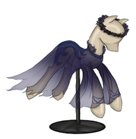 10pt Pony Dress Adopt: Ghostly Bue Gown by Blesses