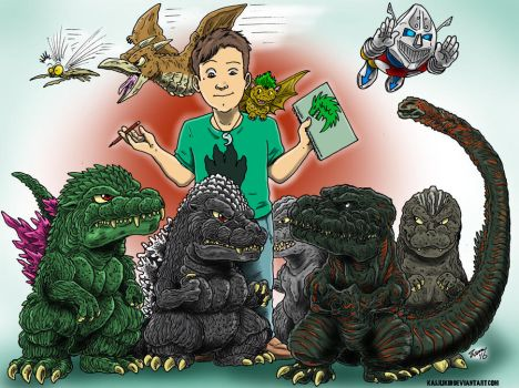Just Me and the Buds by kaijukid