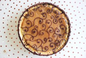 My 5layer salted caramel tart *my invention by ChiquisArt
