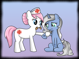 Nurse Redheart to the Rescue by Scarletts-Fever