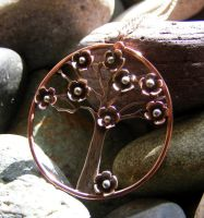 Cherry Blossom Tree Necklace by MoonLitCreations