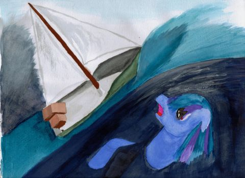 Not So Smooth Sailing by CrazyPastels