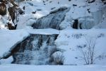 Winter at Kent Falls by heatherspettals