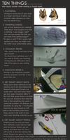 TEN THINGS - Tips on Making a fursuit mask by Katmomma