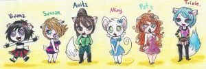 Chibi Girlz by tonoly21