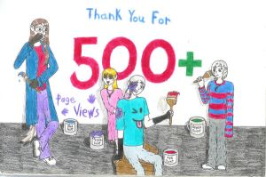 500 Page Views by Lukan-the-Oracle