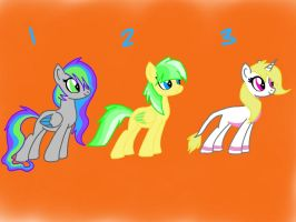 10 Point Pony Adopts 4 OPEN by Rainbow-ninja-adopts