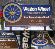 Wagon Wheel HDU Sign by signcrafter