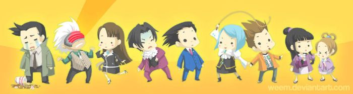 Phoenix Wright Bookmark '09 by weem