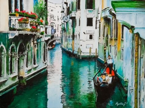 'View of Venice'- oils by dryand09