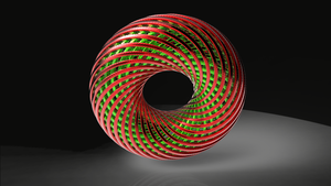 Holiday Spiral Torus by Tate27kh