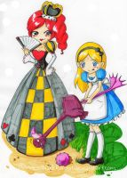 Alice Project: Croquet with the Queen by PrincessBlackRabbit