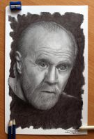 George Carlin by AtomiccircuS