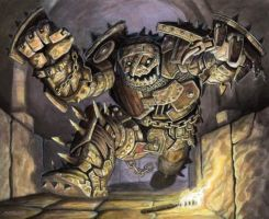Scrap Golem by McHughstudios