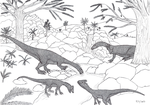 Plateosaurus and Liliensternus by brolyeuphyfusion9500