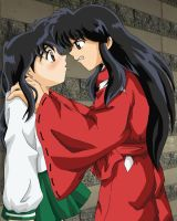 Human InuYasha And Kagome -fin by cowgirlem
