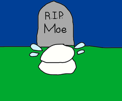 Ghost Moe Crying During the Grave Look by MikeEddyAdmirer89