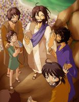Jesus Feeds Five Thousand. by ShouYume