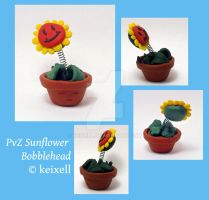 PvZ Sunflower Bobblehead by keixell