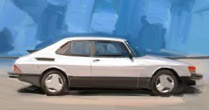 Saab_900_painting by slime-unit