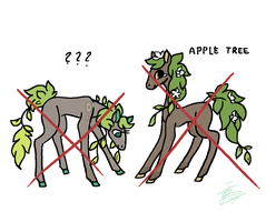 Tree Horses Adoptable- Just apple.. by Stassy-IFOX3