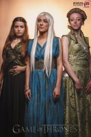 Margaery Daenerys and Sansa  Cosplay by Enamaeris