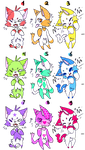 Cat Adoptables -open- by the-emo-wolf