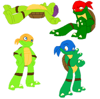 Cute Lil' Turtle Bases by KawaiiKittee88