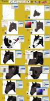 Horse Head Tutorial Step by Step A by BLACKNIGHTINGALE81
