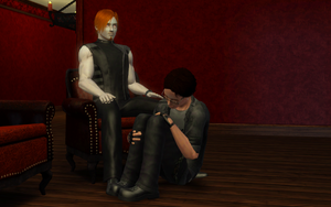 Sims 3 - John, Issac - Master/Pet by ConfusedLittleKitty