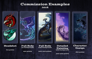 Commission Examples and Info 2014 -OPEN- by Julkkuli