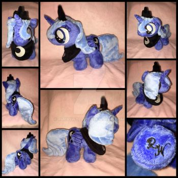 MLP 7in Filly Luna Plushie w/ regalia - EFNW 2016 by RubioWolf