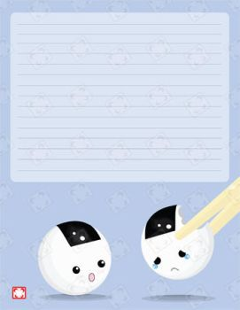 Weeping Onigiri Stationary by gonnafly