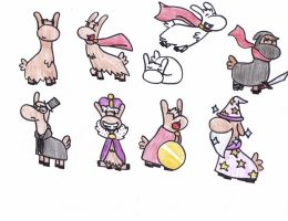 Llama Badges by Turtlestarf