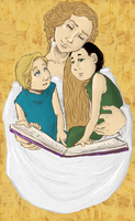 Frigga and her Children by LadyNorthstar