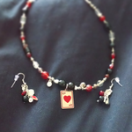 Queen of Hearts Necklace by JessiRenee