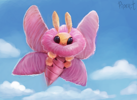 DAY 80. Candy-Floss Moth (30 Minutes) by Cryptid-Creations