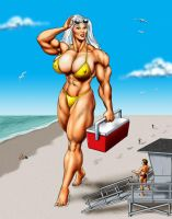 Olga at the Beach - commission by DavidCMatthews