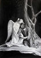 Jesus and Angel by donchild