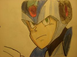 Megaman X Colored version by Undead-Battery