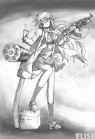 Elise and AK47 by williamtio