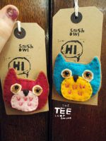 Snish Owl Brooch by T-EE