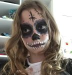 Mexican Skeleton make up #1 (Warm Face Reveal) by W0lfBlue15